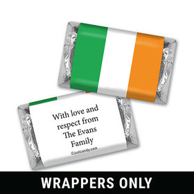 Irish Flag Personalized Miniature Wrappers