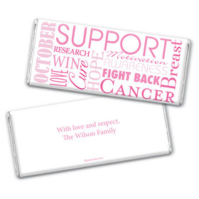 Words for a Cure Personalized Candy Bar - Wrapper Only