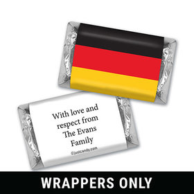 Olympic Party Favor Personalized HERSHEY'S MINIATURES Wrappers German Flag from Germany