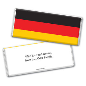 German Flag Personalized Candy Bar - Wrapper Only