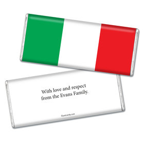 Olympic Party Favor Personalized Chocolate Bar Italian Flag from Italy