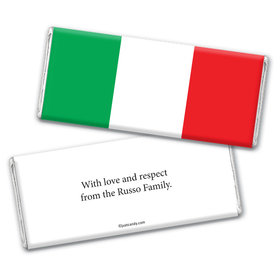 Italian Flag Personalized Candy Bar - Wrapper Only