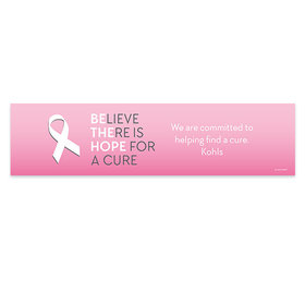 Personalized Breast Cancer Awareness Be the Hope 5 Ft. Banner