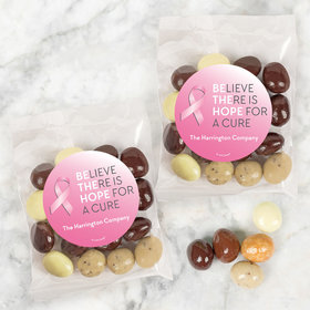 Personalized Breast Cancer Awareness Be the Hope Candy Bags with Premium Gourmet New York Espresso Beans