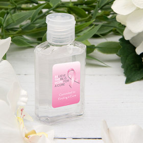 Personalized Hand Sanitizer Breast Cancer Awareness 2 fl. oz bottle - Be the Hope