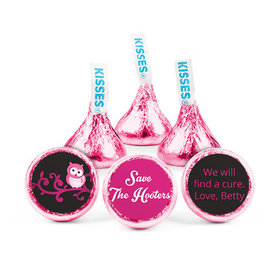 Personalized Hershey's Kisses - Breast Cancer Awareness Save the Hooters (50 Pack)