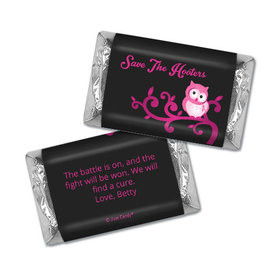 Personalized Hershey's Miniatures - Breast Cancer Awareness Save the Hooters