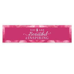 Personalized Breast Cancer Awareness Pink Inspiration 5 Ft. Banner