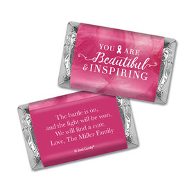 Personalized Breast Cancer Pink Inspiration Hershey's Miniatures