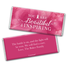 Personalized Breast Cancer Pink Inspiration Chocolate Bar