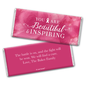 Personalized Chocolate Bar Wrappers Only - Breast Cancer Awareness Pink Inspiration