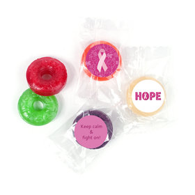 Personalized Life Savers 5 Flavor Hard Candy - Breast Cancer Awareness Live Love Hope