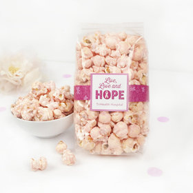 Breast Cancer Awareness Live Love Hope Candy Coated Popcorn 8 oz Bags