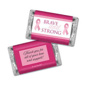 Personalized Breast Cancer Brave and Strong Hershey's Miniatures