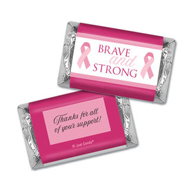 Personalized Breast Cancer Brave and Strong Hershey's Miniatures Wrappers