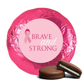 Personalized Chocolate Covered Oreos - Breast Cancer Awareness Brave and Strong
