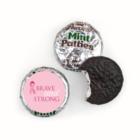 Personalized Pearson's Mint Patties- Breast Cancer Awareness Brave and Strong