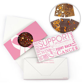 Personalized Strength in Words Breast Cancer Awareness Gourmet Infused Belgian Chocolate Bars (3.5oz)