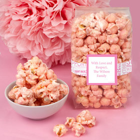 Breast Cancer Awareness Strength in Words Candy Coated Popcorn 8 oz Bags