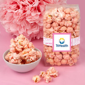 Breast Cancer Awareness Add Your Logo Candy Coated Popcorn 8 oz Bags