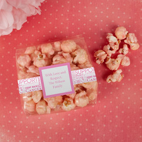 Breast Cancer Awareness Strength in Words Candy Coated Popcorn 3.5 oz Bags
