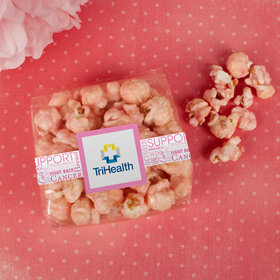 Breast Cancer Awareness Add Your Logo Candy Coated Popcorn 3.5 oz Bags