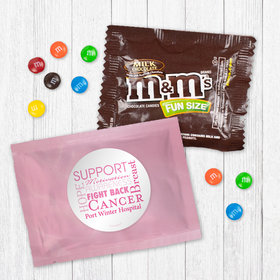 Personalized Breast Cancer Awareness Strength in Words - Milk Chocolate M&Ms