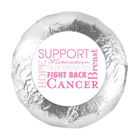 "Personalized 1.25"" Stickers - Breast Cancer Awareness Strength in Words (48 Stickers)"