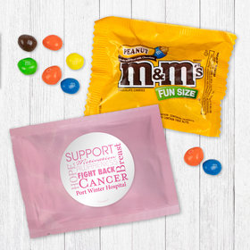 Personalized Breast Cancer Awareness Strength in Words - Peanut M&Ms