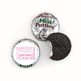 Personalized Pearson's Mint Patties- Breast Cancer Awareness Strength in Words