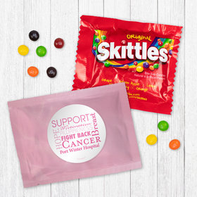 Personalized Breast Cancer Awareness Strength in Words - Skittles