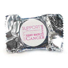 Personalized York Peppermint Patties- Breast Cancer Awareness Strength in Words