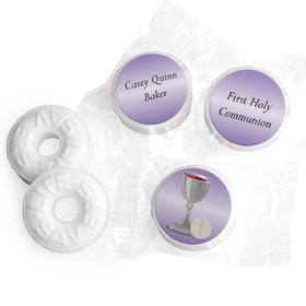 Personalized First Communion Chalice LIFE SAVERS Mints Assembled