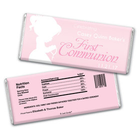 Communion Personalized Chocolate Bar Child in Prayer