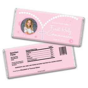 Communion Personalized Chocolate Bar Photo Rosary