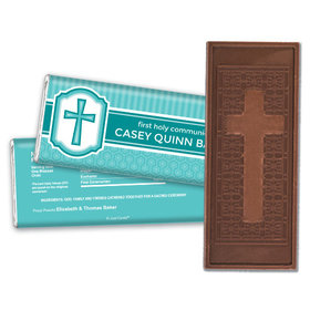 Communion Embossed Cross Chocolate Bar Framed Cross