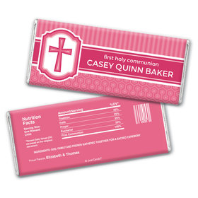 Classic Communion Personalized Candy Bar - Wrapper Only