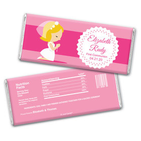 Angelic Prayer Personalized Candy Bar - Wrapper Only