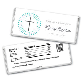 Radiant Cross Personalized Candy Bar - Wrapper Only