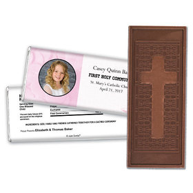 Communion Embossed Cross Chocolate Bar Photo & Eucharist