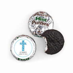 Communion Personalized Pearson's Mint Patties Dots Cross