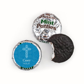 Communion Personalized Pearson's Mint Patties Elegant Cross