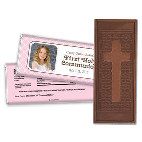 Communion Embossed Cross Chocolate Bar Photo Criss Cross