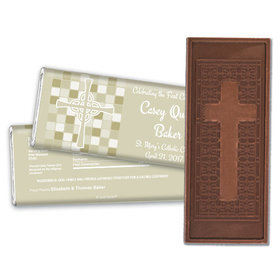 Communion Embossed Cross Chocolate Bar Mosaic Cross