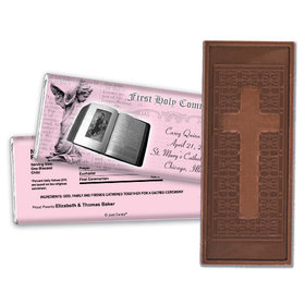 Communion Embossed Cross Chocolate Bar Bible & Angel