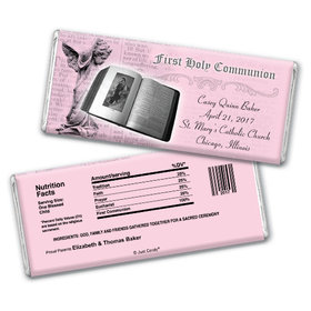 Communion Personalized Chocolate Bar Bible & Angel