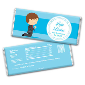 Prayer and Communion Personalized Candy Bar - Wrapper Only