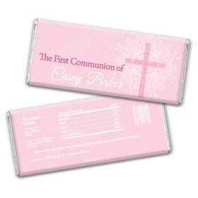 Communion Personalized Chocolate Bar Classic Cross