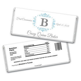 Elegant Monogram Personalized Candy Bar - Wrapper Only