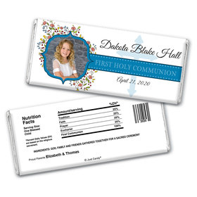 Floral Faith Personalized Candy Bar - Wrapper Only